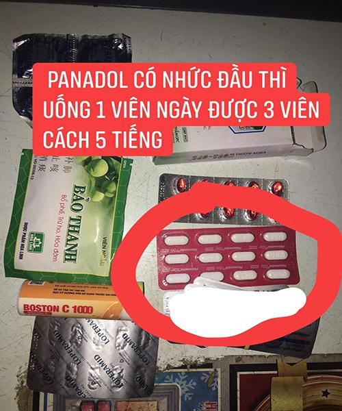 Nếu thấy nhức đầu thì uống Panadol ngày 3 viên cách nhau 5 tiếng